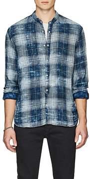 John Varvatos Men's Plaid Cotton Tunic Shirt