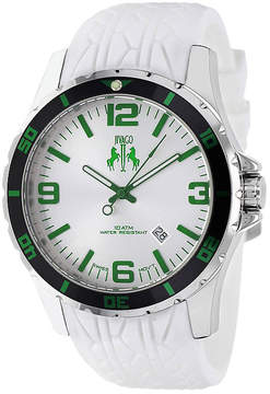 Jivago Ultimate Mens White Silicone Strap Watch