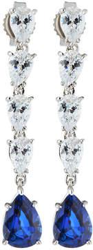 FANTASIA Multi-Drop Cubic Zirconia & Synthetic Sapphire Earrings