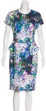 Basler Floral Print Knee-Length Dress