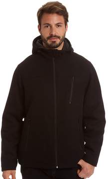 Haggar Men's Stretch Wool-Blend Hooded Open-Bottom Jacket