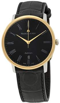 Maurice Lacroix Les Classiques Tradition Black Dial Black Leather Automatic Men's Watch