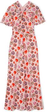 Temperley London Elixir Printed Crepe Maxi Dress - Baby pink