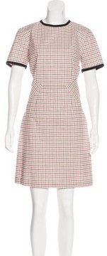 Band Of Outsiders Tattersall Sheath Dress
