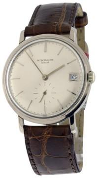 Patek Philippe Calatrava 3445G 18K White Gold Mens 35mm Watch