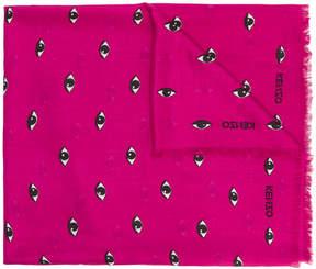 Kenzo Eye print scarf
