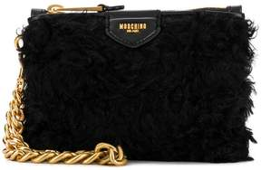 Moschino logo plaque clutch