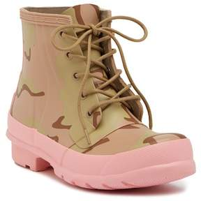 Hunter Lace-Up Camo Print Boot (Women)