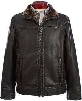 Roundtree & Yorke Faux-Leather Jacket