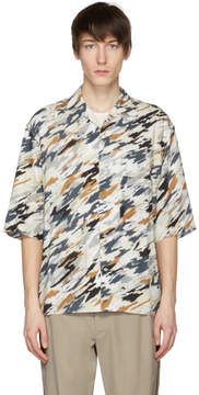 Lemaire Multicolor Convertible Collar Shirt