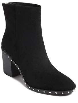 Forever 21 Faux Suede Studded Ankle Boots