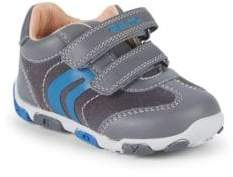 Geox Baby's Leather Grip-Tape Sneakers