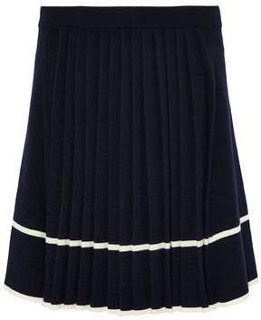 Chinti and Parker Pleated Intarsia Wool Skirt