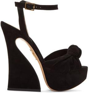 Charlotte Olympia Black Platform Vreeland Sandals