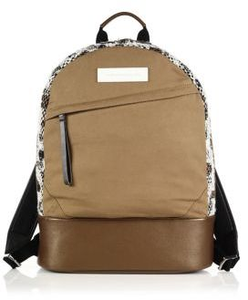 WANT Les Essentiels Kastrup Tweed, Leather & Canvas Backpack
