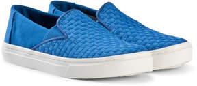 Toms Royal Blue Basket Weave Shoes