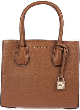 Michael Kors Mercer Grained Shoulder Bag - LUGGAGE - STYLE