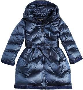 MonnaLisa Nylon Down Coat W/ Velvet Details