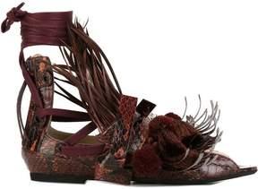 No.21 tassel detail flat sandals