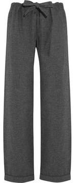 Bodas Montana Herringbone Brushed-Cotton Pajama Pants