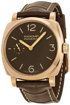 Panerai Radiomir 1940 Brown Dial Brown Leather Men's Watch