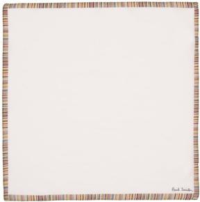 Paul Smith White Multistripe Pocket Square