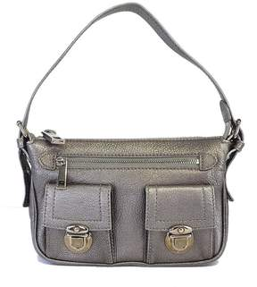 Marc Jacobs Metallic Silver Small Leather Shoulder Bag - SILVER - STYLE