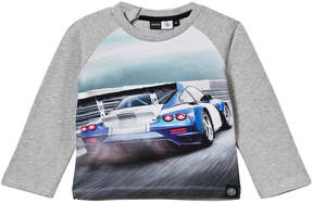 Molo Grey And Blue Evan Car Race Sweater