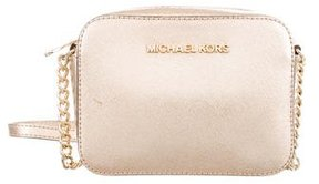 MICHAEL Michael Kors Saffiano Leather Crossbody Bag - GOLD - STYLE