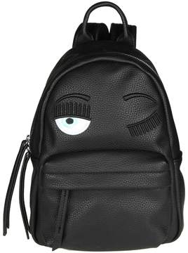 Chiara Ferragni flirting Backpack In Black Leather