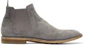 Officine Creative Grey Standard 8 Chelsea Boots