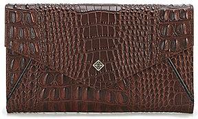 Antonio Melani Crocodile-Embossed Envelope Flap Clutch