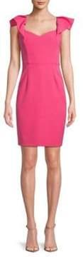 Alexia Admor Classic Flutter-Sleeve Sheath Dress