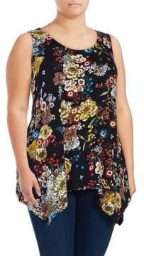Context Plus Sleeveless Floral-Printed Top