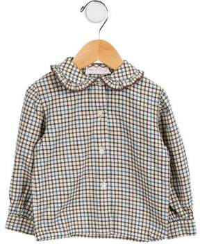 Papo d'Anjo Girls' Plaid Button-Up Top