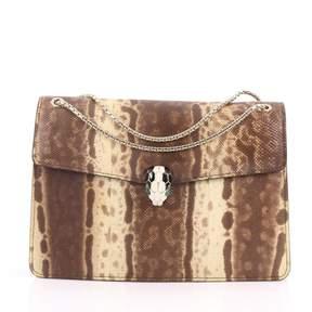 Bulgari Serpenti Brown Exotic leather Handbag