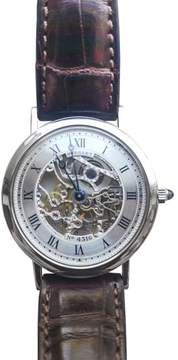 Breguet Classic Skeleton 3520BA 18K White Gold & Leather 35.5mm Watch