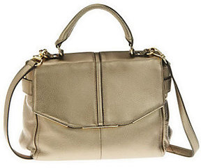 As Is B. Makowsky Glove Leather Convertible Flap Satchel
