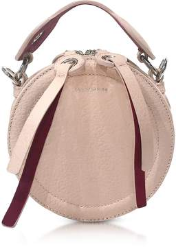 Carven Orsay Nude Leather Round Crossbody Bag