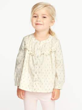 Old Navy Ruffle-Trim Sparkle Top for Toddler Girls