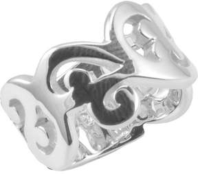 Barse Women's Sterling Silver Swirled Band Ring SR3394
