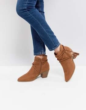 New Look Western Wrap Tie Boot
