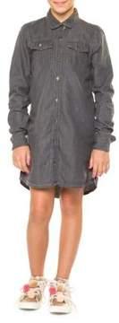 Dex Girl's Denim Shirtdress