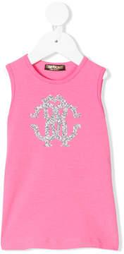 Roberto Cavalli glitter logo dress