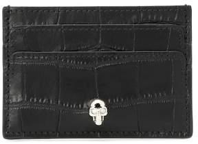 Alexander McQueen Embellished leather card holder