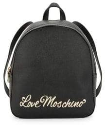 Love Moschino Crosshatch Textured Backpack