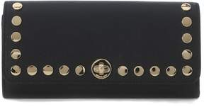 Michael Kors Rivington Black Leather Wallet With Studs - NERO - STYLE