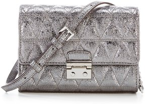 MICHAEL Michael Kors Ruby Metallic Quilted Clutch - PEWTER - STYLE