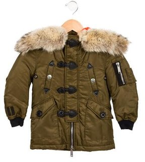 DSQUARED2 Boys' Fur-Trimmed Cargo Jacket
