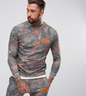 Hype Sweatshirt In Wood Camo